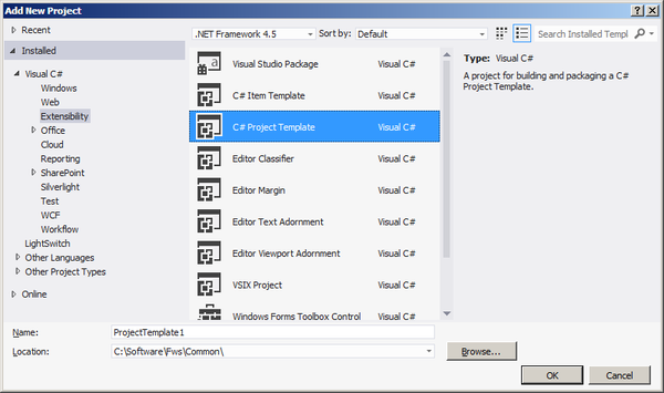 How to create a visual studio 2012 project template part 2 how to create a visual studio 2012 project template part 2 automatic export maxwellsz